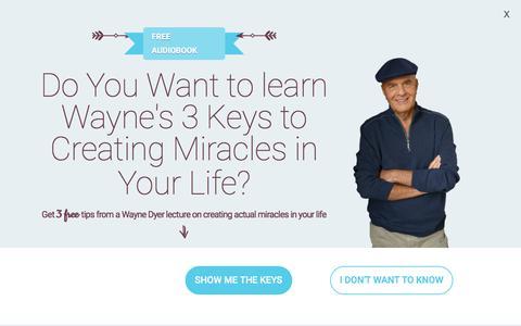 Screenshot of Home Page drwaynedyer.com - Wayne Dyer - The Official Website of Dr. Wayne W. Dyer - captured Sept. 25, 2018
