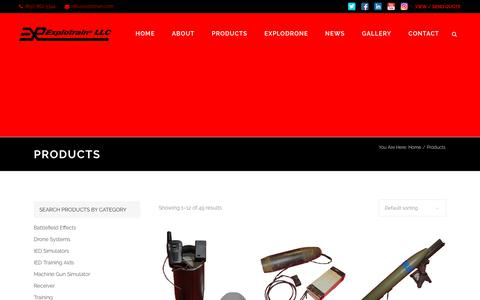 Screenshot of Products Page explotrain.com - Products Archive - Explotrain, LLC. - captured Sept. 17, 2017