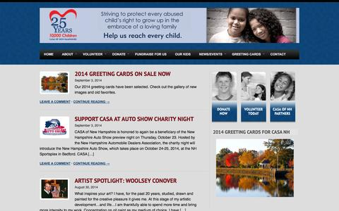 Screenshot of Press Page casanh.org - News/Events | CASA of New Hampshire - captured Oct. 1, 2014
