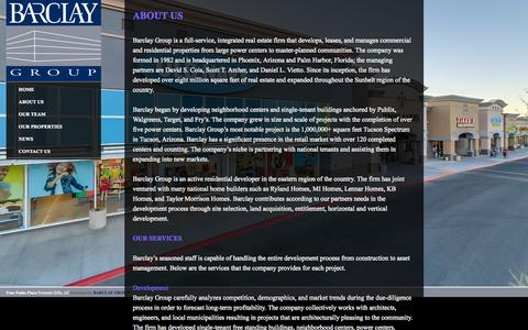 Screenshot of About Page barclaygroup.com - About Us | Barclay Group - captured Sept. 30, 2014