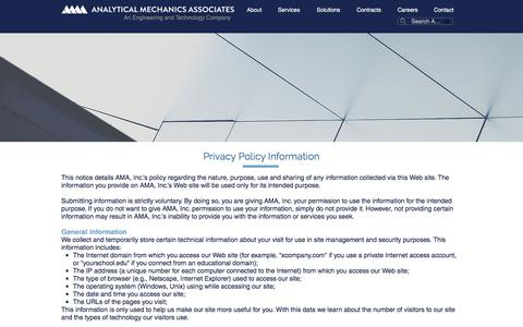 Screenshot of Privacy Page ama-inc.com - AMA  | Privacy Policy - captured Oct. 8, 2017