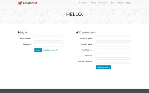 Screenshot of Login Page launchbit.com - Log In / Create Account | LaunchBit - captured July 19, 2014