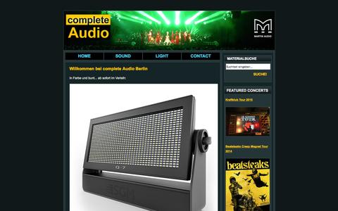 Screenshot of Home Page complete-audio.com - Complete Audio Berlin | Home - captured Oct. 19, 2015