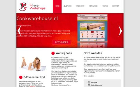 Screenshot of Home Page f-five.eu - F-Five - captured Feb. 4, 2016