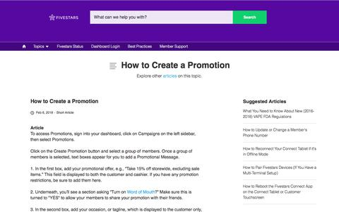 How to Create a Promotion