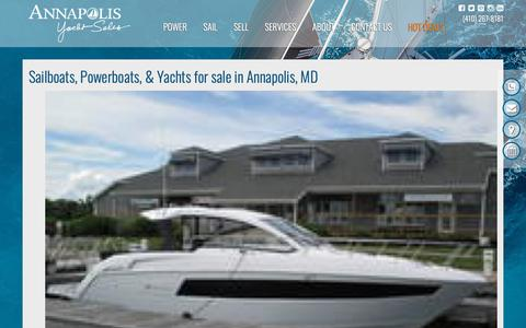Screenshot of Site Map Page annapolisyachtsales.com - Sailboats, Powerboats, & Yachts for sale ​in Annapolis, MD; Kent Island, Maryland; & Deltaville; & Virginia Beach , VA - Dealership | Annapolis Yacht Sales - captured Oct. 3, 2018