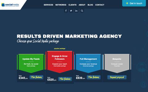 Screenshot of Home Page social-media.co.uk - Social Media Marketing   London-based Digital Marketing Agency - captured July 4, 2019