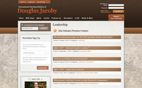Screenshot of Team Page douglasjacoby.com - Leadership Archives - Douglas Jacoby - captured Oct. 18, 2017