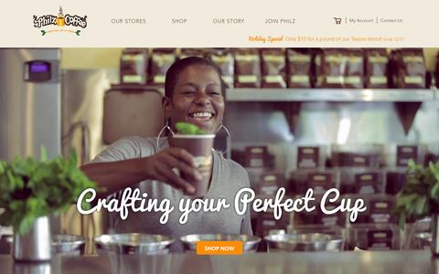 Screenshot of Home Page philzcoffee.com - Welcome to the store - captured Dec. 22, 2015