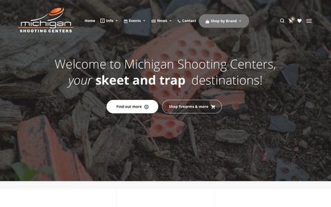 Screenshot of Home Page mishoot.com - Michigan Shooting Centers - Island Lake and Bald Mountain - captured Oct. 18, 2017