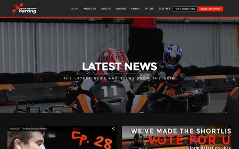 Screenshot of Press Page formulafast.co.uk - Latest News   Formula Fast   Indoor Go Karting Milton Keynes - captured Feb. 10, 2016