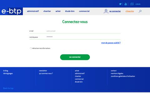 Screenshot of Login Page e-btp.fr - Login - captured Dec. 8, 2018