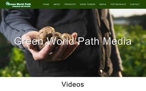 Screenshot of Press Page greenworldpath.com - Media – Green World Path - captured Sept. 30, 2018