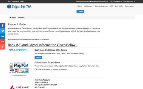 Screenshot of Blog siliguriinfotech.com - Payment Mode - captured Jan. 24, 2017
