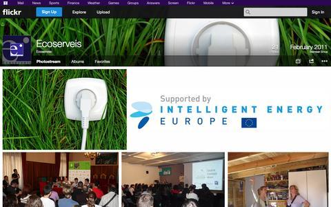 Screenshot of Flickr Page flickr.com - Flickr: Ecoserveis' Photostream - captured Oct. 22, 2014