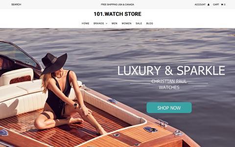 Screenshot of Home Page 101.watch - 101.Watch   U.S. Online Watch Store - captured July 9, 2018