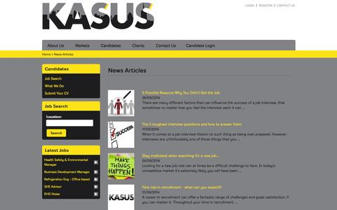 Screenshot of Press Page kasus.co.uk captured Sept. 30, 2014