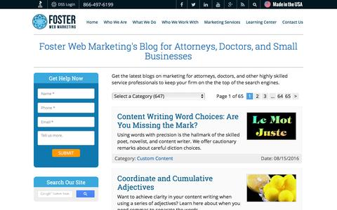 Doctor & Attorney Marketing Blog | Foster Web Marketing