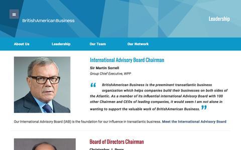 Screenshot of Team Page babinc.org - Leadership - BritishAmerican Business - captured Nov. 23, 2016