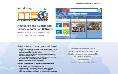 Screenshot of Pricing Page mlasolutions.com - Mandarin Digital Library Automation Management System for Schools - captured Oct. 1, 2018