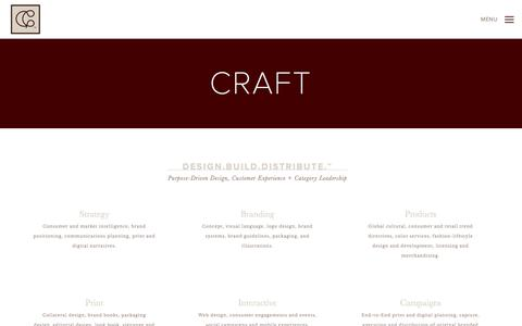 Screenshot of Products Page cortezgroupe.com - CRAFT — Cortez Groupe - captured May 22, 2017