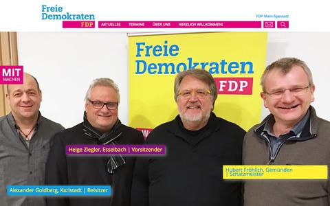 Screenshot of Home Page fdp-mainspessart.de - FDP Main-SpessartHome | FDP Main-Spessart - captured April 2, 2017