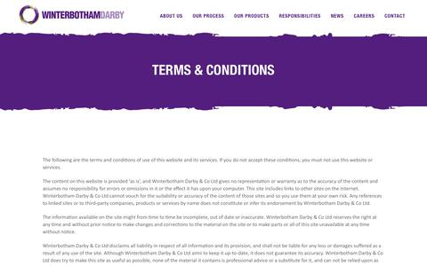 Screenshot of Terms Page winterbothamdarby.com - Terms & Conditions | Winterbotham Darby - captured Dec. 21, 2018