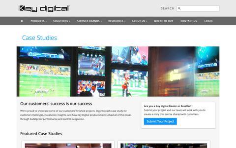 Screenshot of Case Studies Page keydigital.com - Key Digital® - Customer Case Studies - captured Oct. 15, 2018