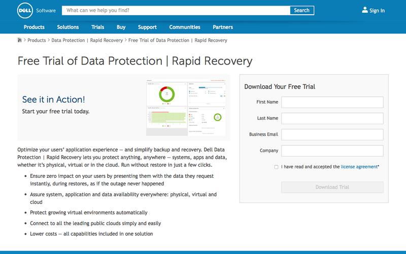 Download your free trial for Data Protection | Rapid Recovery