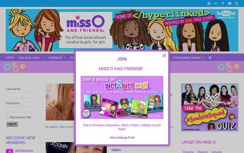 Screenshot of Team Page missoandfriends.com - Miss O Team | Miss O and Friends - captured June 25, 2017