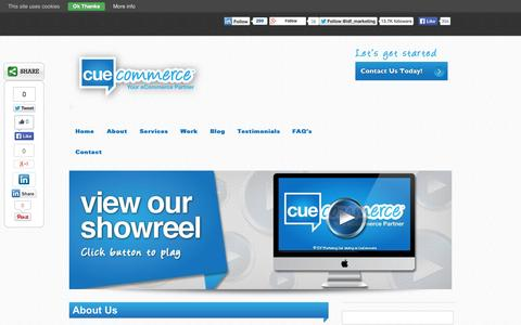 Screenshot of About Page cuecommerce.com - Ecommerce Company | Ecommerce Companies | Cuecommerce Ireland | Cue Commerce - captured Sept. 19, 2014