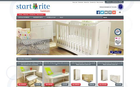 Screenshot of Home Page startritefurniture.com - Start-rite furniture OFFICIAL SITE Buy online free delivery - captured Oct. 1, 2014