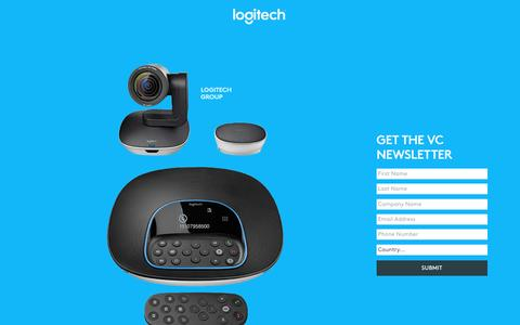 Screenshot of Landing Page logitech.com - Logitech VC Newsletter | Contact Us - captured April 26, 2017