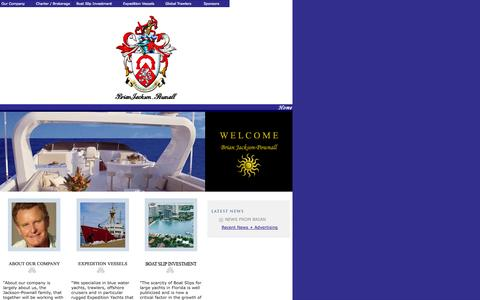 Screenshot of Home Page bjpownall.com - .:: Brian Jackson-Pownall ::. Sailing, Yacht Club, Miami, Classic Sailing, Yachting, Boating, Sailing Club, Boat Club, Boating Club, Yachting Club, Miami Boat Club, Miami Sailing Club, Classic Yacht, Classic Boat, Yatch Club, Yatching Club, Yatching, - captured Jan. 29, 2015