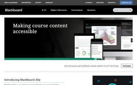 Blackboard Ally | Accessibility in Education