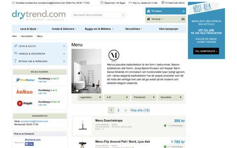 Screenshot of Menu Page drytrend.com - Menu – Köp Menu online | Drytrend.com - captured Oct. 5, 2014