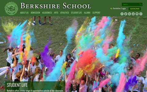 Screenshot of Home Page berkshireschool.org - Berkshire School: Day & Boarding College Prep School MA   Massachusetts - captured Jan. 1, 2016