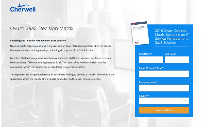 2016 Ovum Decision Matrix: Selecting an IT Service Management SaaS Solution