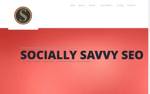 Screenshot of Home Page sociallysavvyseo.com - Socially Savvy SEO | SEO Houston, Social Media Houston, Houston Website Design, Houston Social Media Marketing, Houston Search Engine Optimization - captured March 2, 2016