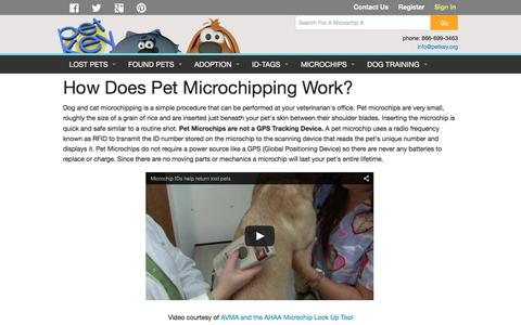 Screenshot of FAQ Page petkey.org - How Pet Microchipping Works | petkey ™ - captured Jan. 27, 2016