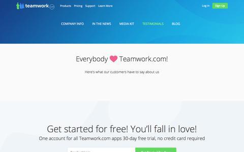 Project Management Reviews & Testimonials | Teamwork Projects