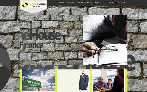 Screenshot of Home Page stonehouse-finance.com - StoneHouse Finance - Home - captured Oct. 24, 2014