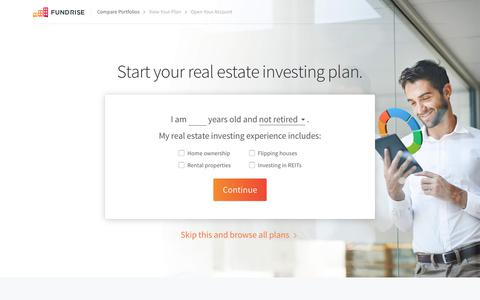 Start your real estate investing plan | Fundrise