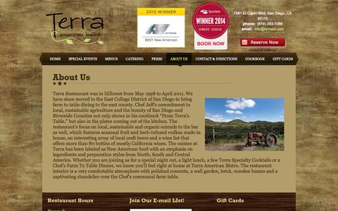 Screenshot of About Page terrasd.com - About Us - captured Oct. 6, 2014