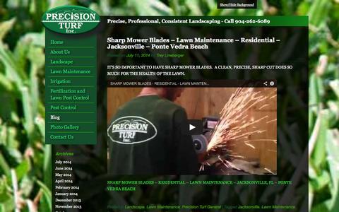 Screenshot of Blog preturf.com - Precision Turf Blog | Landscape, Lawn Maintenance, Irrigation, Turf Fertilization - captured Oct. 2, 2014