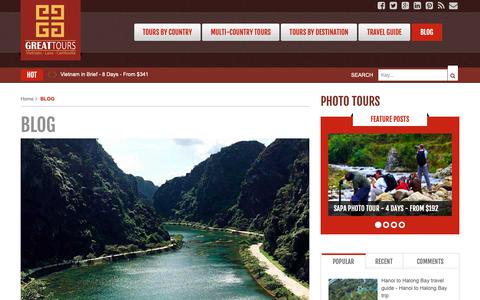 Screenshot of Blog vietnamgreattours.com - BLOG - Vietnam Tours - Indochina Tours - captured Nov. 19, 2018