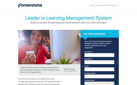 Screenshot of Landing Page cornerstoneondemand.com - Employee Learning Mananement System | Cornerstone - captured Feb. 1, 2017