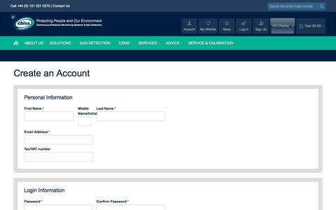 Screenshot of Signup Page a1-cbiss.com - Create New Customer Account - captured May 31, 2017
