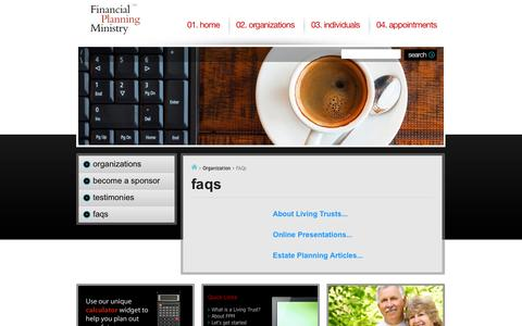 Screenshot of FAQ Page fpm.org - Financial Planning Ministry - captured Oct. 3, 2014