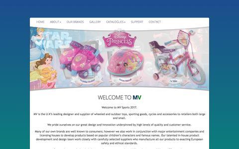 Screenshot of Home Page mvsports.co.uk - Mv Sports & Leisure Ltd | Moving Brands Forward - captured Oct. 4, 2017